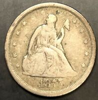 1875 S SEATED LIBERTY TWENTY CENT 20C COIN FINE