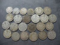 CANADA SILVER 24 COINS LOT 10 CENTS 5 CT. ANTIQUE EARLY 1900