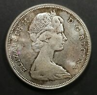 MS 60 OR BETTER 1967 CANADIAN SILVER DOLLAR COIN $1 CANADA