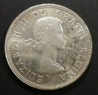 MS 60 OR BETTER 1964 CANADIAN SILVER DOLLAR COIN $1 CANADA