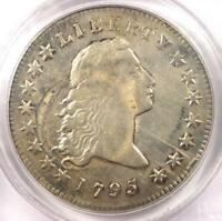1795 FLOWING HAIR SILVER DOLLAR $1 COIN - PCGS F15 -  COIN - $4,900 VALUE