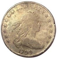 1799 DRAPED BUST SILVER DOLLAR $1 - FINE DETAILS -  TYPE COIN