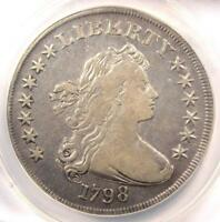 1798 DRAPED BUST SILVER DOLLAR $1 - ANACS VF35 DETAILS -  COIN - LOOKS EXTRA FINE