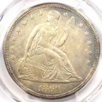 1860-O SEATED LIBERTY SILVER DOLLAR $1 - PCGS UNCIRCULATED DETAIL UNC MS.
