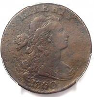 1800/79 DRAPED BUST LARGE CENT 1C S-192 - PCGS VF DETAILS -  OVERDATE COIN