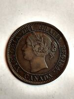 1858 CANADA LARGE CENT