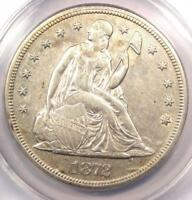 1872-S SEATED LIBERTY SILVER DOLLAR $1 COIN - ANACS AU50 DETAILS -  DATE