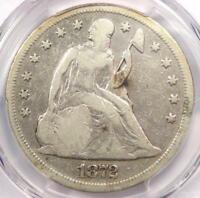 1872 SEATED LIBERTY SILVER DOLLAR $1 - PCGS VG DETAILS -  CERTIFIED COIN