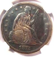 1872-S SEATED LIBERTY SILVER DOLLAR $1 COIN - NGC EXTRA FINE  DETAILS EF -  S MINT
