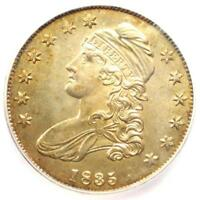 1835 CAPPED BUST HALF DOLLAR 50C. CERTIFIED ICG MINT STATE 65 GEM BU. $9840 GUIDE VALUE
