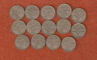 14 DFFERENT KING GEORGE V FIVE CENT COINS INCLUDES 1926 N6 A