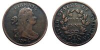 HALF CENT/PENNY 1804 COHEN 6 SHATTERED REVERSE LATE DIE STAT