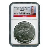 CERTIFIED UNCIRCULATED SILVER EAGLE 2011S SAN FRANCISCO MINT STATE 69