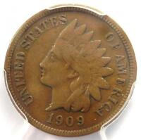 1909-S INDIAN CENT 1C COIN - PCGS VF25 -  KEY DATE PENNY - $525 VALUE