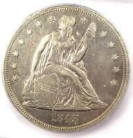 1843 SEATED LIBERTY SILVER DOLLAR $1 COIN - ICG EXTRA FINE 45 EF45 - $745 VALUE