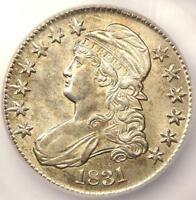 1831 CAPPED BUST HALF DOLLAR 50C - ICG MINT STATE 62 UNC BU - $1,650 GUIDE VALUE