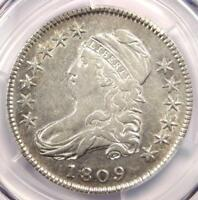 1809 CAPPED BUST HALF DOLLAR 50C - CERTIFIED PCGS EXTRA FINE  DETAILS EF -  DATE