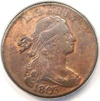 1803 DRAPED BUST LARGE CENT 1C - ANACS VF20 DETAILS -  EARLY DATE PENNY