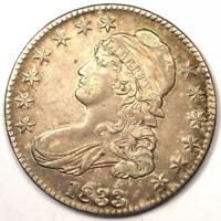 1833 CAPPED BUST HALF DOLLAR 50C - SHARP DETAILS -  COIN -  LUSTER