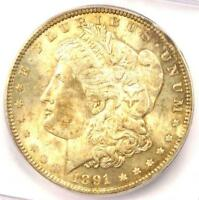 1891 MORGAN SILVER DOLLAR $1 1891-P - ICG MINT STATE 64 PLUS GRADE - $650 VALUE