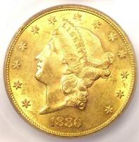 1880 LIBERTY GOLD DOUBLE EAGLE $20 COIN - CERTIFIED ICG MINT STATE 61 - $17,780 VALUE