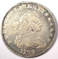 1799 DRAPED BUST SILVER DOLLAR $1 - VF DETAILS -  TYPE COIN
