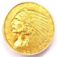 1909-D INDIAN GOLD HALF EAGLE $5 COIN - ICG MINT STATE 64 -  IN MINT STATE 64 - $2,040 VALUE