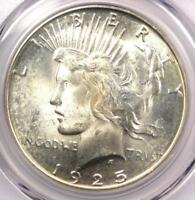1925-S PEACE SILVER DOLLAR $1 COIN - PCGS MINT STATE 64 PQ