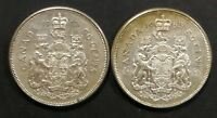 LOT OF 2 MS 65 1963 CANADIAN SILVER HALF DOLLAR 50 CENT COIN