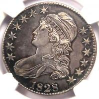 1828 CAPPED BUST HALF DOLLAR 50C O-116 - CERTIFIED NGC AU DETAILS -  COIN