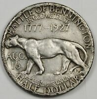 1927 VERMONT SESQUICENTENNIAL SILVER HALF DOLLAR BATTLE OF BENNINGTON