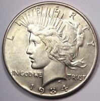 1934-S PEACE SILVER DOLLAR $1 - EXCELLENT CONDITION -  DATE