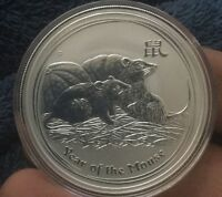 2008 1OZ SILVER MOUSE AUSTRALIA PERTH MINT LUNAR YEAR OF THE