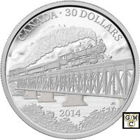 2014 2OZ 'GRAND TRUNK PACIFIC RAILWAY' PROOF $30 FINE SILVER 2OZ.COIN 15305  NT