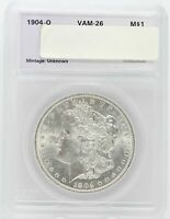 1904-O MORGAN SILVER DOLLAR VAM-26 - DOUBLED 19 PROFILE - UNCIRCULATED -  LE413