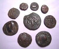9 EARLY INDIAN & ISLAMIC BRONZE COINS. REF. 5310.