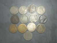 US SEATED LIBERTY DIME LOT SILVER 13 COINS 1838 1884   1916