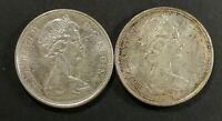 LOT OF 2 AU TO MS 1965 CANADIAN SILVER HALF DOLLAR 50 CENT C