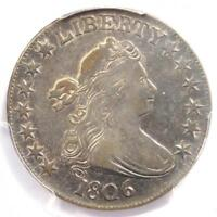 1806 DRAPED BUST HALF DOLLAR 50C COIN - CERTIFIED PCGS EXTRA FINE 45 - $2,100 VALUE