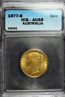 1877   S AUSTRALIA SOVEREIGN ICG AU58      B11291
