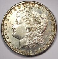 1895-S MORGAN SILVER DOLLAR $1 - AU DETAILS CLEANED -  DATE -