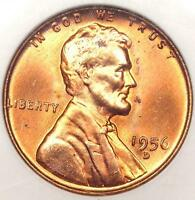 1956-D LINCOLN WHEAT CENT 1C - ANACS MINT STATE 67 RD -  IN MINT STATE 67 - $750 GUIDE VALUE