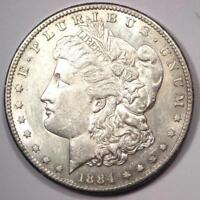 1884-S MORGAN SILVER DOLLAR $1 - EXCELLENT CONDITION -  DATE THIS SHARP