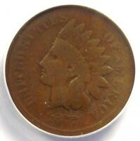 1877 INDIAN CENT 1C - ANACS G4 GOOD -  KEY DATE CERTIFIED PENNY
