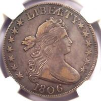 1806 DRAPED BUST HALF DOLLAR 50C COIN O-106 KNOB 6 - NGC EXTRA FINE 40 - $2,250 VALUE