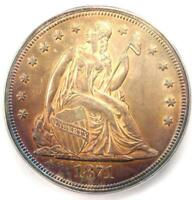 1871 SEATED LIBERTY SILVER DOLLAR $1 - CERTIFIED ICG MINT STATE 63 UNC - $3,970 VALUE