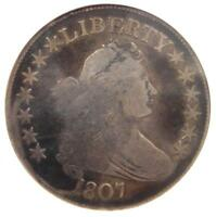 1807 DRAPED BUST HALF DOLLAR 50C COIN - CERTIFIED ANACS VG8 -  COIN