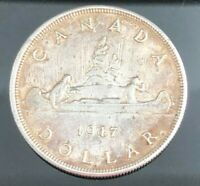 1947 CANADIAN SILVER DOLLAR  DOT POINTED 7