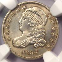 1834 CAPPED BUST DIME 10C - NGC AU DETAILS -  EARLY DATE - CERTIFIED COIN