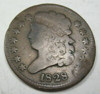 1828 U.S. HALF CENT COLLECTOR COIN 126D